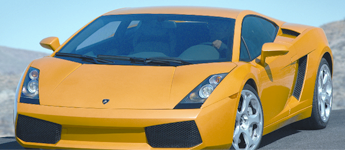 Yellow Tinted Sports Car